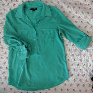 Old Navy quarter button down top